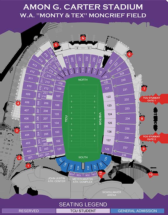 Tcu Football Seating Chart Gofrogs Com Tcu Horned Frogs