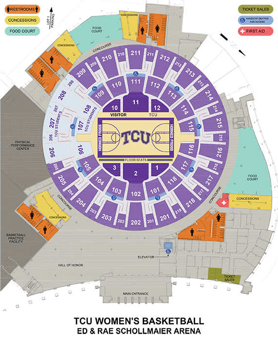 TCU | Online Ticket Office | Seating Charts