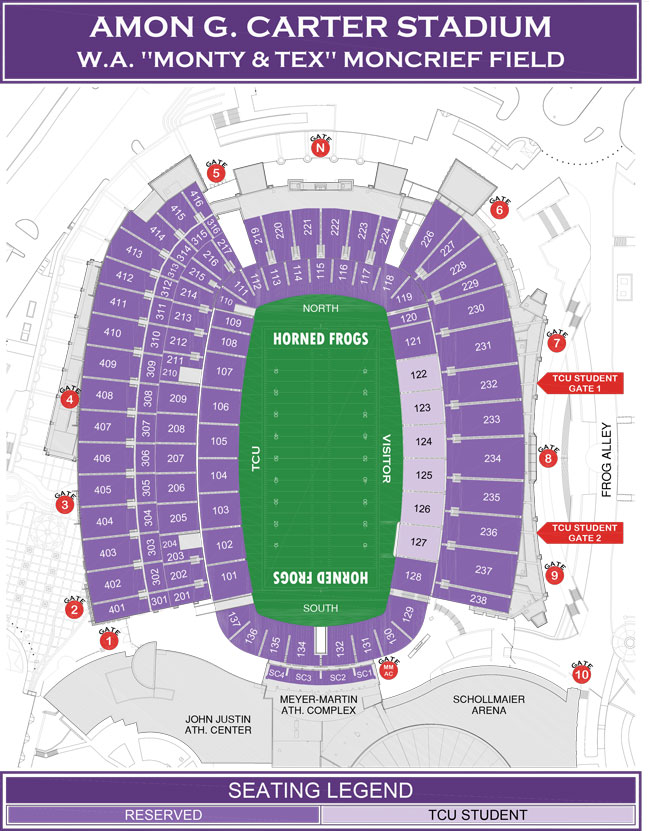 Tcu Stadium Map Online Ticket Office | Seating Charts
