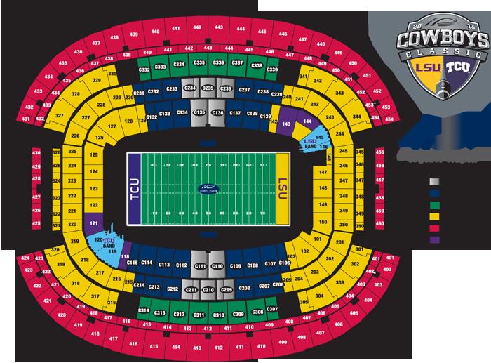 Lsu Football Stadium Seating Chart Classic Tcuvslsu Map Png